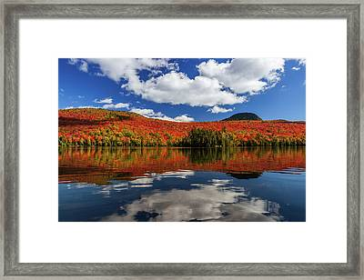 Long Pond And Clouds Framed Print