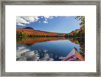 Long Pond From A Kayak Framed Print by Tim Kirchoff
