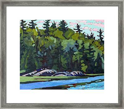Long Reach White Pines Framed Print