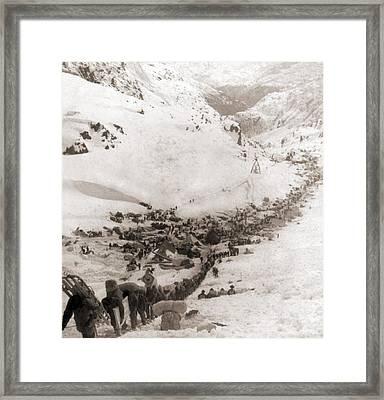 Long Ribbon Of Miners Bound Framed Print by Everett