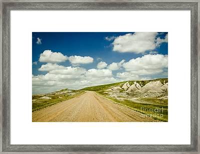 Long Road Ahead Framed Print by Sandy Adams