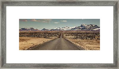 Framed Print featuring the photograph Long Road Ahead by Wade Courtney