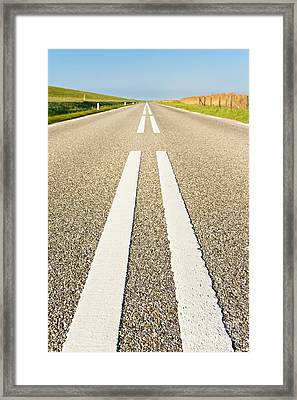 Long Road Framed Print by David Bleeker