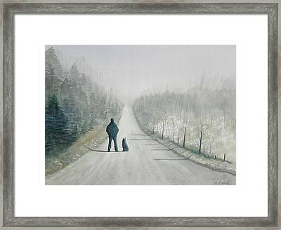Long Road Home Framed Print by Ally Benbrook