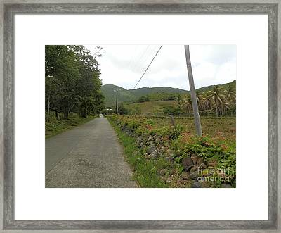 Long Road Into Colombier Framed Print