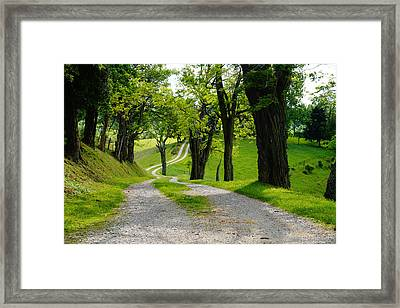 Long Road Framed Print