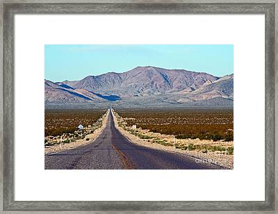 Long Road Out Of Beatty Framed Print