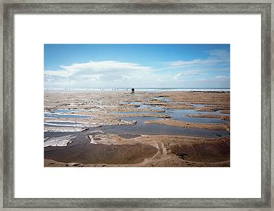 Long Stretch Of Sand Framed Print by Svetlana Sewell