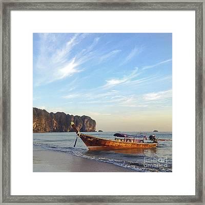 Long Tail Boat Krabi Thailand Framed Print by Ivy Ho