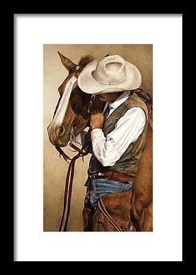 Cowboy Framed Prints