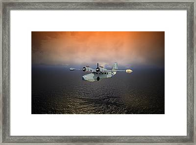 Framed Print featuring the digital art Long Trip Home by Mike Ray