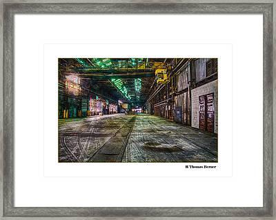 Long View Framed Print by R Thomas Berner