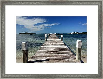 Long Walk Framed Print by Mary Haber