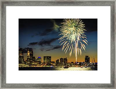 Long Warf Fireworks 1 Framed Print