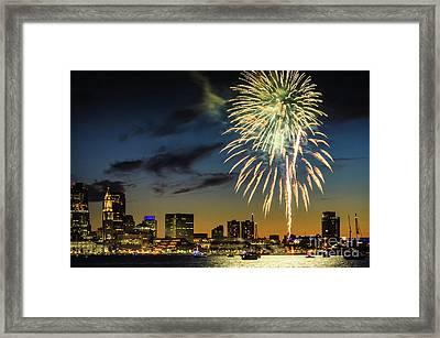 Long Warf Fireworks 1 Framed Print by Mike Ste Marie