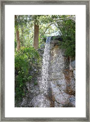 Framed Print featuring the photograph Long Waterfall Drop by Raphael Lopez