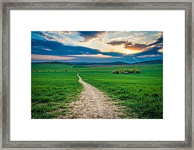 Long Way Framed Print