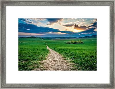 Long Way Framed Print by Martin Capek
