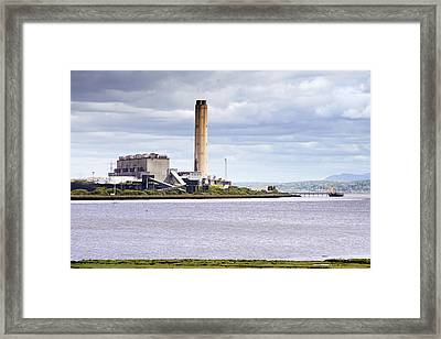 Framed Print featuring the photograph Longannet Power Station by Jeremy Lavender Photography