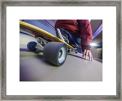 Longboarding Framed Print by Will Gudgeon
