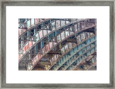 Longfellow Bridge Arches II Framed Print by Clarence Holmes