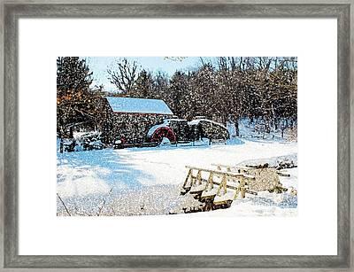 Longfellow's Grist Mill Framed Print by Frank Garciarubio