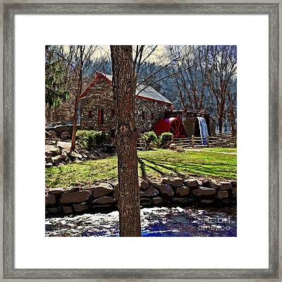 Longfellow's Wayside Gristmill Framed Print by Earl Jackson