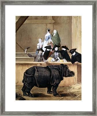 Longhi: Rhinoceros, 1751 Framed Print