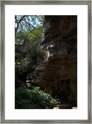 Framed Print featuring the photograph Longhorn Caverns Entrance by Karen Musick