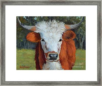 Longhorn Cow Painting II, Ms Tilly  Framed Print