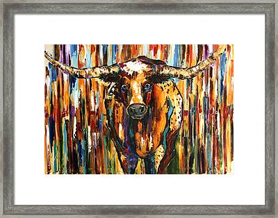 Longhorn Way  Framed Print