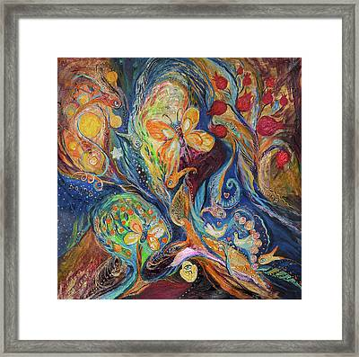 Longing For Chagall Framed Print by Elena Kotliarker