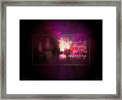 Longing For Him Framed Print