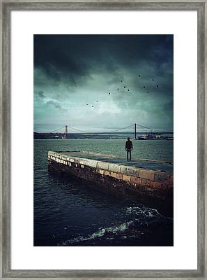 Longing For The Departed Framed Print by Carlos Caetano