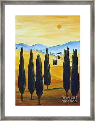 Longing For Tuscany Framed Print by Christine Huwer