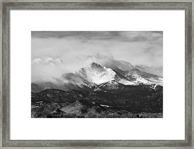Longs Peak And A Mean Storm Framed Print by James BO  Insogna