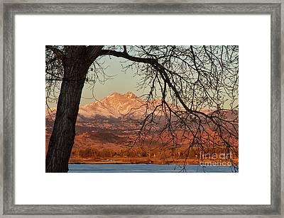 Longs Peak And Mt. Meeker The Twin Peaks Color Photo Image Framed Print