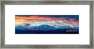 Longs Peak At Sunset Framed Print