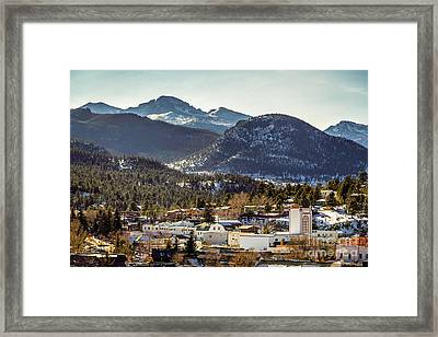 Longs Peak From Estes Park Framed Print