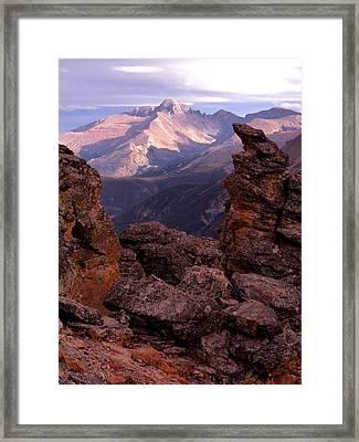 Longs Peak From Rock Cut  Framed Print