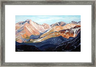 Longs Peak From Trail Ridge Road Framed Print