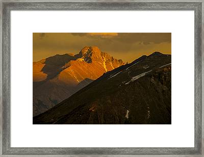 Framed Print featuring the photograph Long's Peak by Gary Lengyel