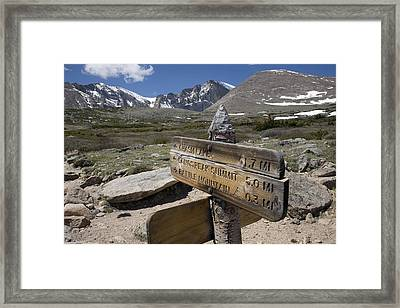 Longs Peak Seen From Chasm Lake Trail Framed Print