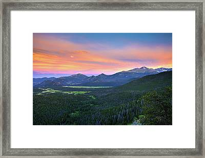 Longs Peak Sunset Framed Print