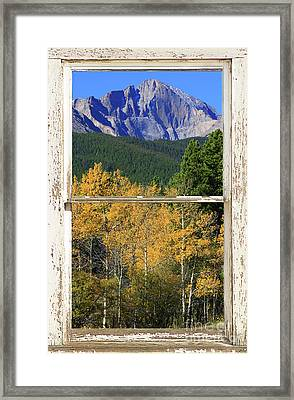 Longs Peak Window View Framed Print