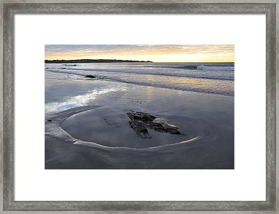 Longsands Rock 2 Framed Print by Catherine Easton