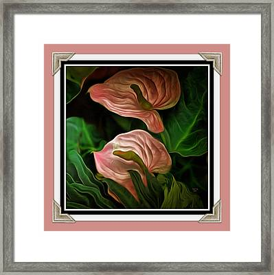 Framed Print featuring the mixed media Longwood Lilies by Trish Tritz