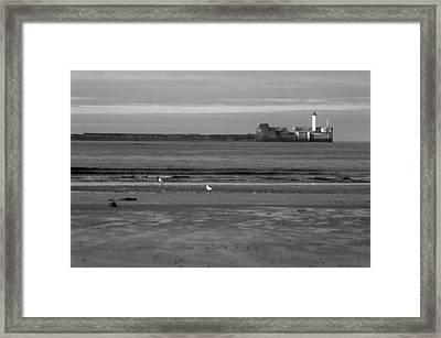 Lonley Sea Framed Print by Jez C Self