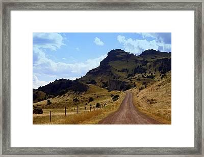 Lonly Road Framed Print by Marty Koch