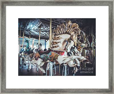 Looff Stallion - Carousel Framed Print by Colleen Kammerer